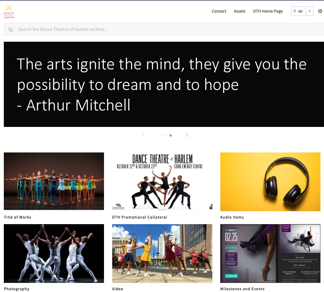 dance theatre of harlem portal front page